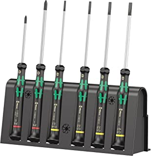 WERA 2035/6 B Screwdriver set and rack for electronic applications, 6 pieces