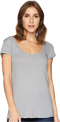 Basic Cap Sleeve Scoop Neck Tee