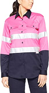 Tradie Women's Lady HI VIS LS Shirt