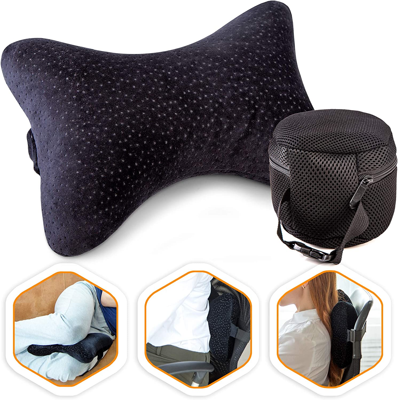 Aeris Car Headrest Pillow %100 Max 40% OFF Foam Neck for Memory Bombing new work D