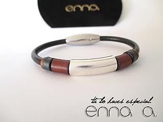 Pulsera cuero negro Nature N 1, pulsera de cuero, regalos de hombre, pulsera marrón, pulsera colores, accesorios hombre, pulsera unisex