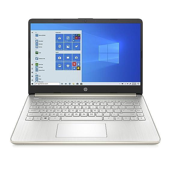 "HP 14 Thin & Light 14"" (35.56cms) FHD Laptop (11th Gen Intel i5-1135G7/8GB/512GB SSD/Windows 10/MS Office 2019/Alexa Built-in/Pale Gold/1.47 kg), 14s-dr2006TU"