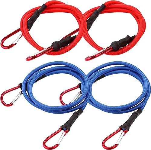 2021 Cartman UV online sale Treated Bungee Cord online with Hook 4PK online sale