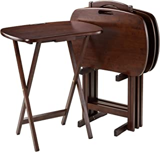 """Winsome Lucca Snack Table, 22.83""""W x 25.79""""H x 15.67""""D, Brown"""