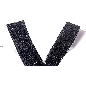 Cinta de velcro resistente Pegar En Rollo Adhesivo Negro 50mm X 1m