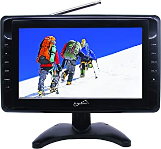 SuperSonic SC-2810 Portable LCD Digital AC/DC TV 10-Inch: Built-in USB and SD Card Reader | Handheld Television