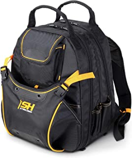 STEELHEAD SH-05-BP-B1-0-1 48-Pocket Heavy-Duty Tool Backpack, Padded Back Support, Reinforced Bottom, Rubber Feet, Perfect for Electricians, Plumbers, Contractors, HVAC Techs