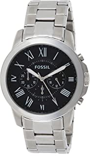 Fossil Men's 44mm Grant Roman Stainless Steel Watch