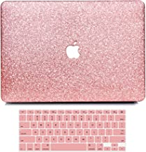 B BELK MacBook Air 13 Inch Case, 2 in 1 Bling Crystal Smooth Ultra-Slim PC Hard Case with Keyboard Cover for Mac Air 13.3 Inch(Model: A1369&A1466, Older Version 2010-2017 Release)-Shinning Rose Gold