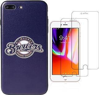 "Sportula MLB Phone Case Matching 2 Premium Screen Protectors Extra Value Set - for iPhone 7 Plus/iPhone 8 Plus (5.5"") (Mil..."