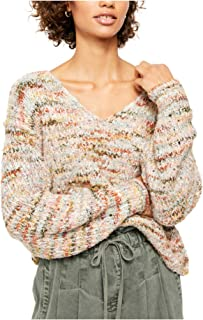 Free People Women's Highland V-Neck Sweater, Size Large - Beige