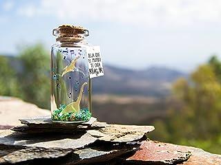 Raw significa Te quiero en Dinosaurio, Happy birthday.Mensaje en una botella. Miniaturas. Regalo personalizado. Divertida ...