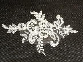 10 Pieces X Ivory Floral lace Applique Bridal Sewing Ivory Tulle lace Motif Ivory lace Applique