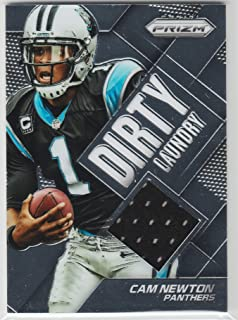 Cam Newton Game Used Jersey Football Card 2014 Panini Prizm Carolina Panthers