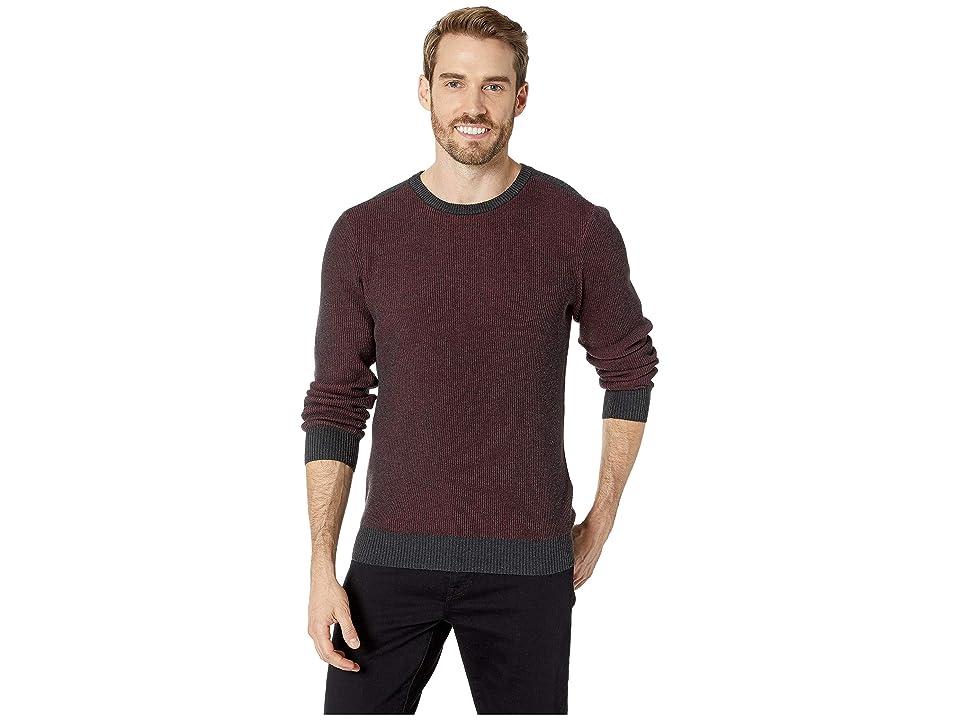 Agave Denim Kestrel Long Sleeve Crew Neck Sweater (Charcoal) Men