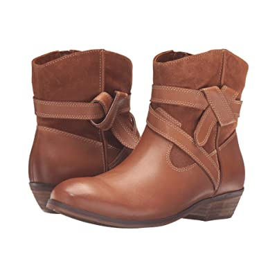 SoftWalk Roper (Cognac Smooth Leather/Cow Suede) Women