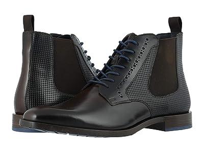 Stacy Adams Rupert Plain Toe Gore Boot (Brown/Blue) Men
