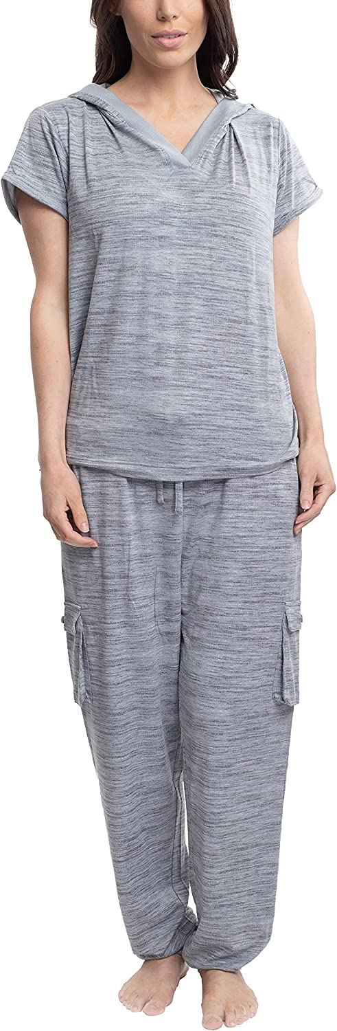 Hanes Women's Short Sleeve Top and Jogger Pajama Cargo Pant New arrival Ranking TOP16 Slee