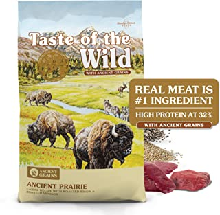 Taste of the Wild High Protein Real Meat Recipe Premium Dry Dog Food with Roasted Bison..