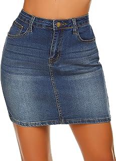 Women Stretch Denim Mini Skirt Jean Skirts