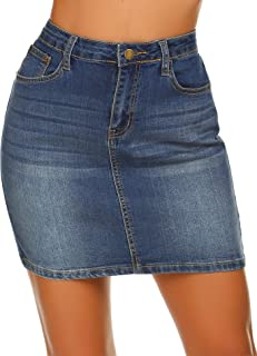 Women Stretch Denim Mini Skirt Jean Skirts