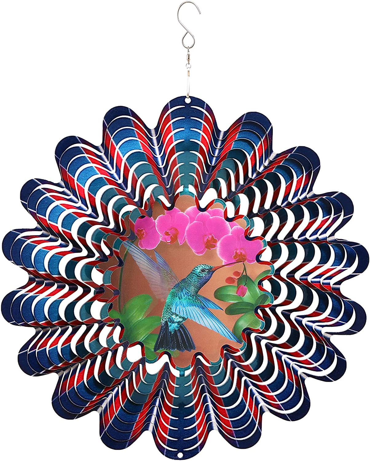 Metal Wind Spinners Outdoor Large Craft 12inch Discount mail order Hummingbird Spinn Mesa Mall