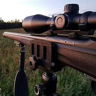 dgfweg Rifle saddle mount Rifle clamp Tripod mount adapter Precise tripod shooting rest