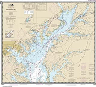 Paradise Cay Publications NOAA Chart 12273: Chesapeake Bay Sandy Point to Susquehanna River 35.5 x 39.5 (TRADITIONAL PAPER)