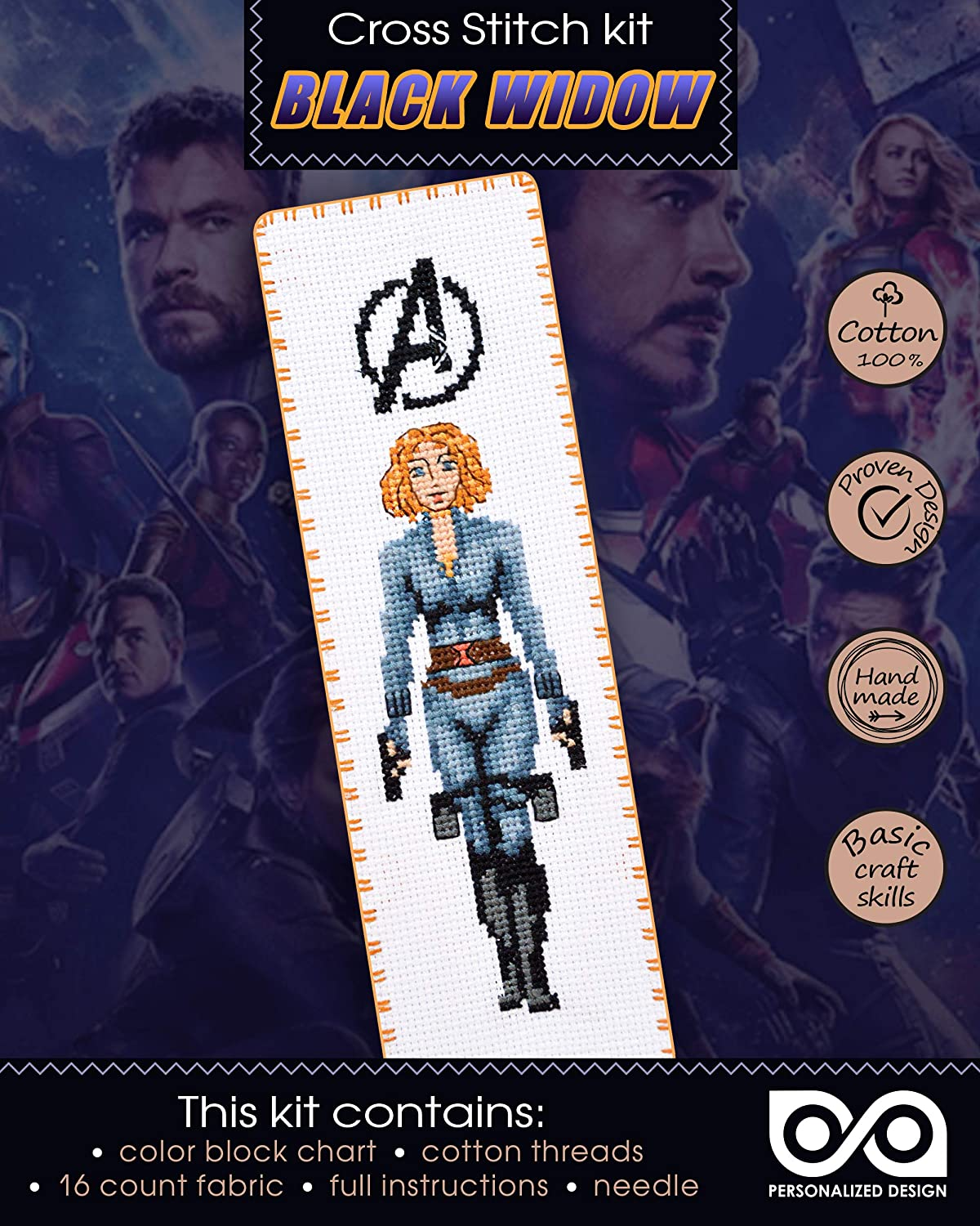 'The Avengers: Black Widow' Embroidery Kit for DIY At the price of surprise Cross Stitch Popular shop is the lowest price challenge