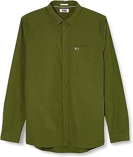 Tommy Jeans TJM Solid Poplin Shirt Camisa para Hombre