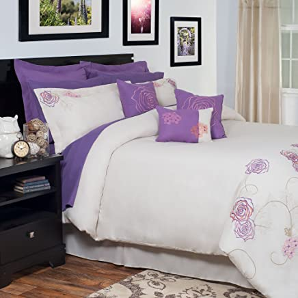 Bedford Home 14-Piece Mia Embroidered Comforter Set,  King
