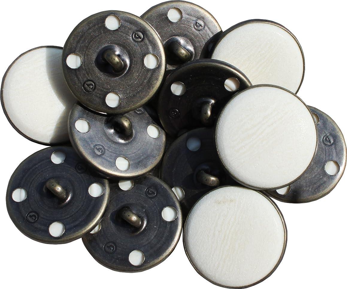 RaanPahMuang Round Buttons Marble Resin Renaissance - Chalk Cream - 21mm - 20pcs