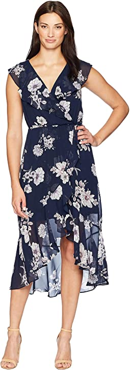 Keva Ruffle Wrap Dress