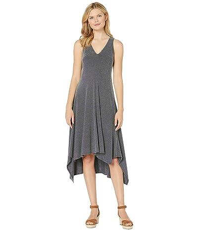 American Rose Palma V-Neck Jersey Dress (Gray) Women