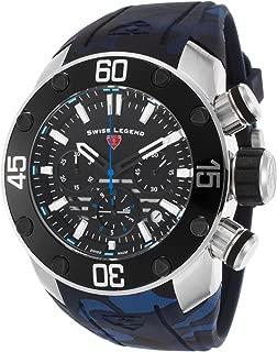 Swiss Legend Men's SL10617SM01BLS Lionpulse Chronograph Black Silicone Watch