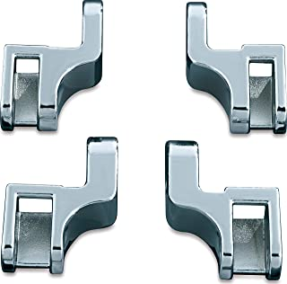 Kuryakyn 7528 Motorcycle Foot Control Component: Driver Floorboard Relocation Brackets for 2000-17 Harley-Davidson Softail Motorcycles, Chrome