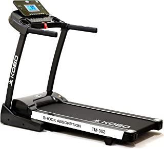 """Kobo Fitness 3 H.P (TM-302) Motorized Manual Incline Treadmill with 5"""" LCD Display and Free Installation Assistance, Home ..."""