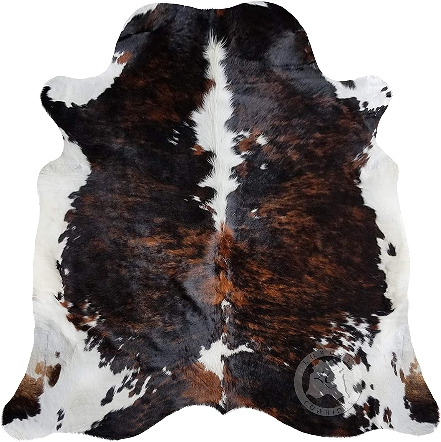 Brindle Dark Discount is also underway Ranking TOP1 Tricolor Cowhide Rug Large Approx. 7ft 6ft x 180cm