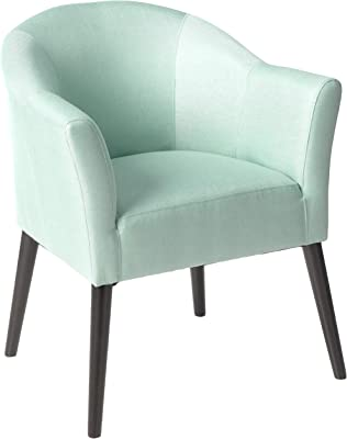 Christopher Knight Home Cosette Fabric Arm Chair, Light Blue
