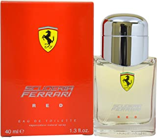 Ferrari Scuderia Red Eau de Toilette Spray for Men, 1.3 Ounce