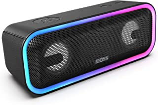 Best Bluetooth Speakers, DOSS SoundBox Pro+ Wireless Bluetooth Speaker with 24W Impressive Sound, Booming Bass,15Hrs Playtime, Wireless Stereo Pairing, Mixed Colors Lights, IPX5, 66 FT Wireless Range-Black Review