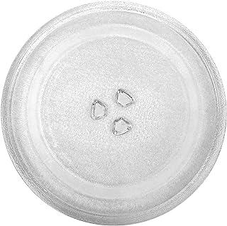 Plateau tournant de 315 mm de rechange pour four à micro-ondes - Assiette de rechange universelle en verre avec un gant de...