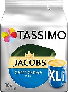 Tassimo Jacobs Caffè Crema Mild XL, Coffee Capsules, Roasted Ground Coffee, 5x16 (80) T-Discs