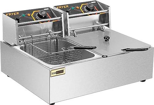 VIVOHOME-20.7-Qt-Large-Capacity-Electric-Deep-Fryer