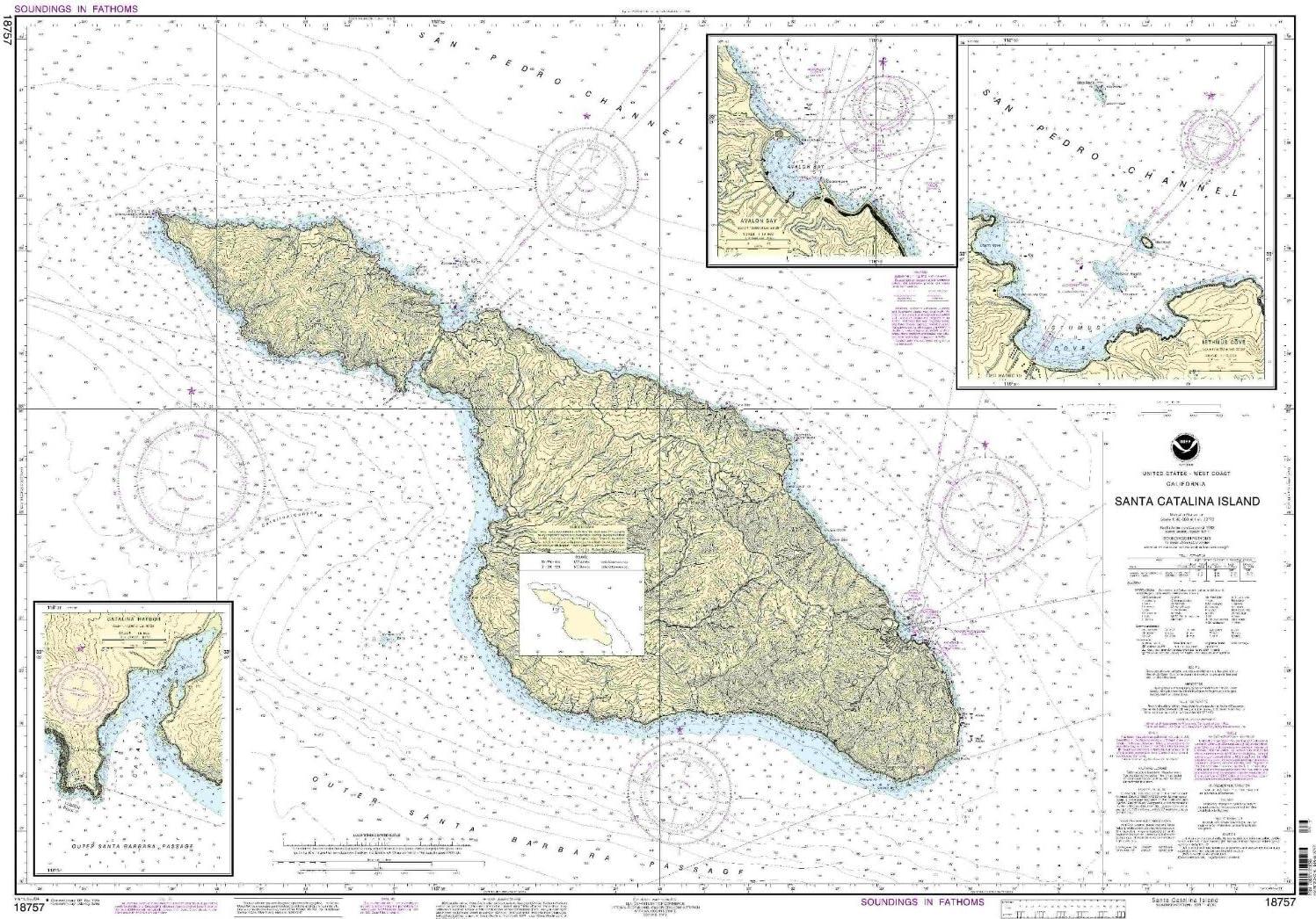NOAA 18757-Santa Catalina Island Avalon Manufacturer OFFicial shop I Bombing new work Bay Harbor