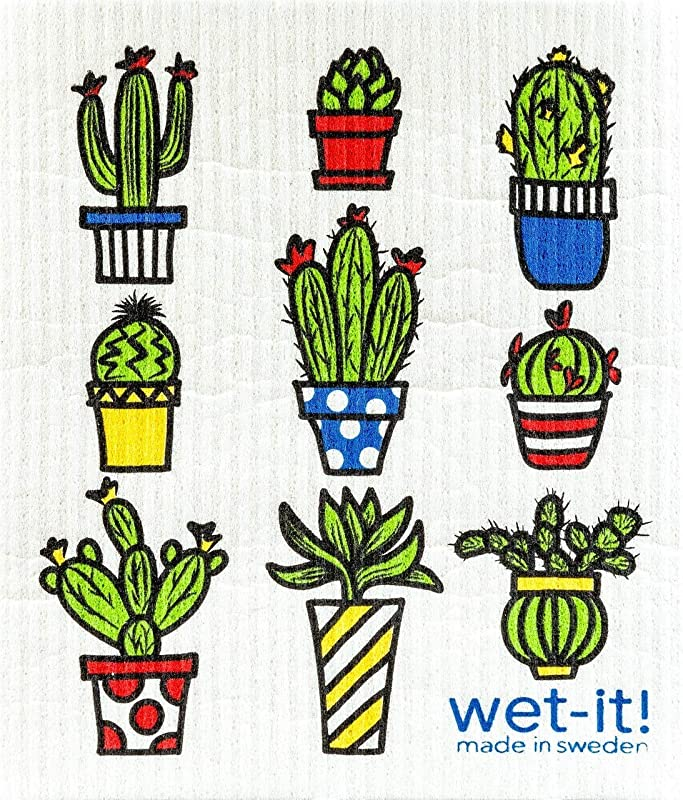 Swedish Treasures Wet It Cactus