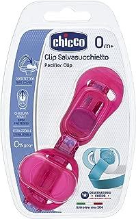 Clip protetor de chupeta, Chicco, Rosa