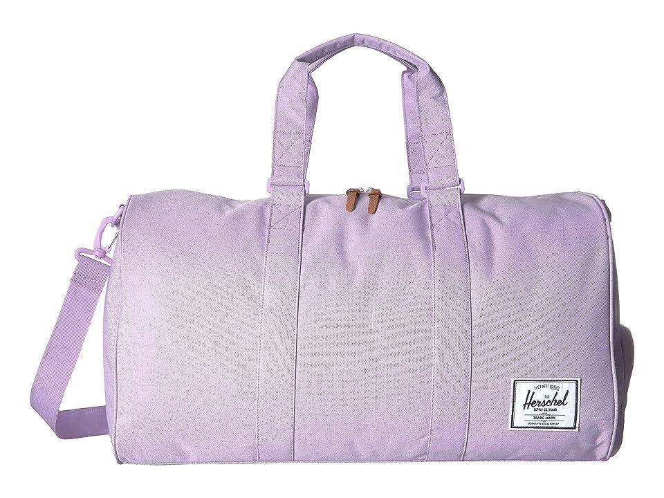 Herschel Supply Co. Novel (Lavendula Crosshatch) Duffel Bags, Purple
