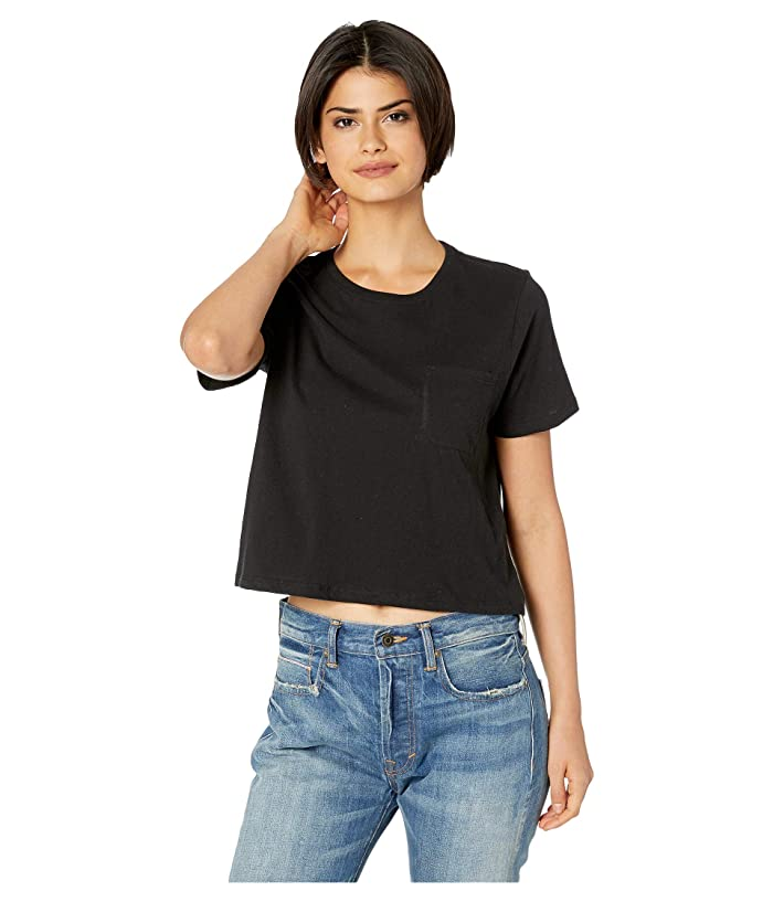 Richer Poorer Boxy Crop Tee (Black) Women's T Shirt