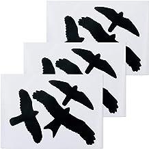 Relaxdays Vogelstickers, waarschuwingsvogels voor ramen en glazen deuren, vogel- en raambescherming, set van 9 stickers, z...
